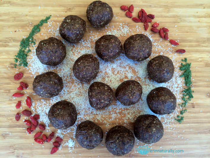Erin's Peppermint Superfood Energy Balls
